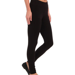 HUE ULTRA LEGGINGS with WIDE WAISTBAND BLACK LARGE